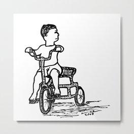 Little Tricycle Metal Print