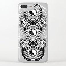 Seven Yin Yang Symmetry Balance Energy Clear iPhone Case
