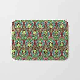 Abstract feathers 1d Bath Mat