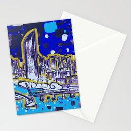 Brisbane City Art Print Stationery Cards