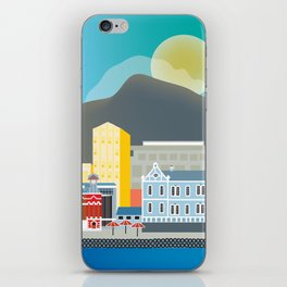 Cape Town, South Africa - Skyline Illustration by Loose Petals iPhone Skin