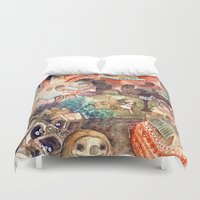 spirited away Duvet Covers featuring Spirited Away by Foya