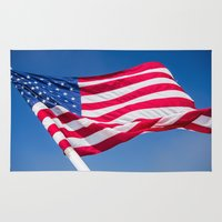 american flag Area & Throw Rugs featuring American Flag by FRESH Photography