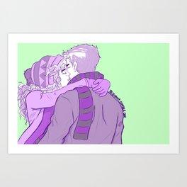Frazel New Year's Kisses Art Print