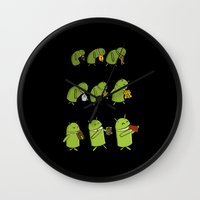 android Wall Clocks featuring Android Evolution by CromMorc