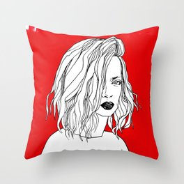 RED SHIRLEY MANSON Throw Pillow