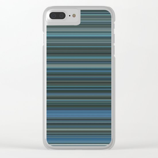Blue lines 2 Clear iPhone Case