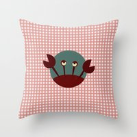 crab Throw Pillows featuring Crab by Mr & Mrs Quirynen