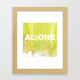 SUNDAYS ARE FOR SOULMATES / ALL ONE Framed Art Print
