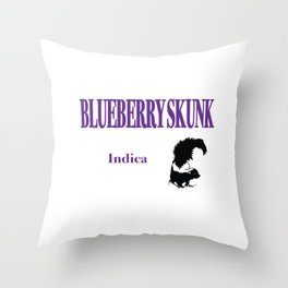 Blueberry Skunk Indica Throw Pillow