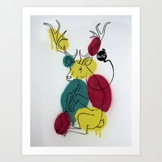Ciervo Deer Art Print
