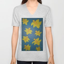 Pop Art Daffodils Unisex V-Neck