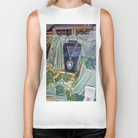 shopping Biker Tanks featuring Window Shopping by Frankie Cat