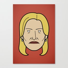 Face of Breaking Bad: Skyler White Canvas Print