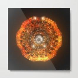 The Eye of Cyma: Fire and Ice - Frame 160 Metal Print