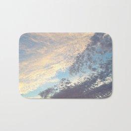 Sunset cloudy sky Bath Mat