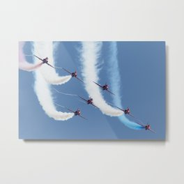 Red Arrows - Formation Magic Metal Print