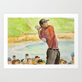 Tiger Woods_Professional golfer Art Print