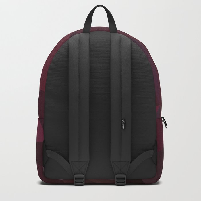 Abstract background of triangles polygon design red marsala colors Backpack