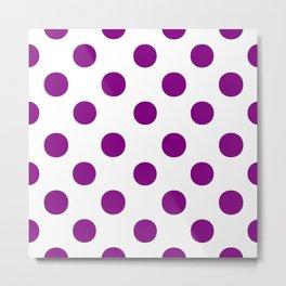 Polka Dots (Purple/White) Metal Print