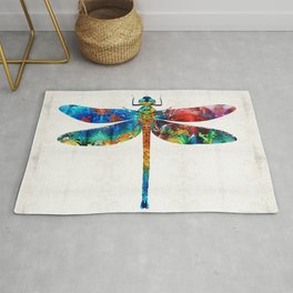 Colorful Dragonfly Art By Sharon Cummings Rug