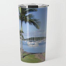 Boats in the Bay Travel Mug