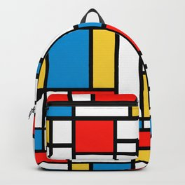 Tribute to Mondrian No2 Backpack