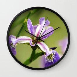 Wild Iris Flower Wall Clock