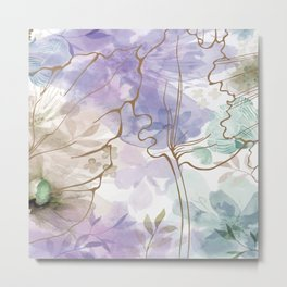 Posy Cluster -- muted Metal Print