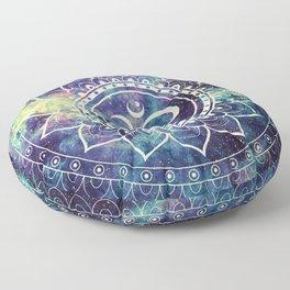 Om Mandala : Deep Pastels Galaxy Floor Pillow