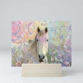Snowy Horse Mini Art Print