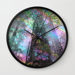 Shimmering Giants Wall Clock