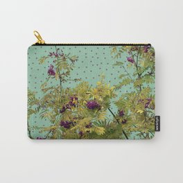 Rowan tree and purple polka dots Carry-All Pouch