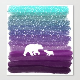 Bears from the Purple Dream Canvas Print