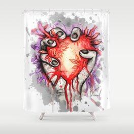 Heart in hand Shower Curtain
