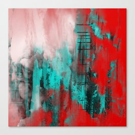 Intense Red And Blue Canvas Print