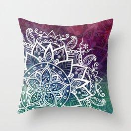 Free Spirit Floral Mandala Throw Pillow