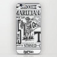 marijuana iPhone & iPod Skins featuring SMOKE MARIJUANA by NIGHTJUNKIE
