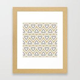 Caramel & Cream Love Hearts In The Spring Framed Art Print