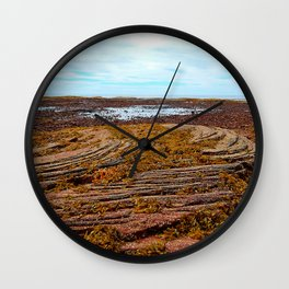 Textured Shoreline Wall Clock