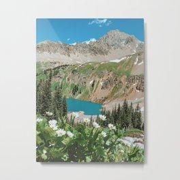 The Blue Lakes of Colorado Metal Print