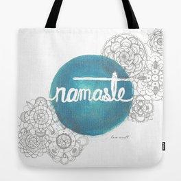 Namaste Mandala  Tote Bag