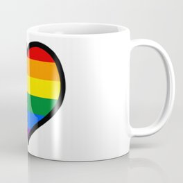 LGBT+ Rainbow Pride Heart Coffee Mug