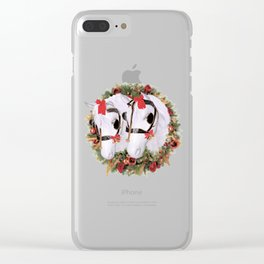 Snowflake and Holly Clear iPhone Case