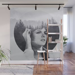 she's hearing voices Wall Mural