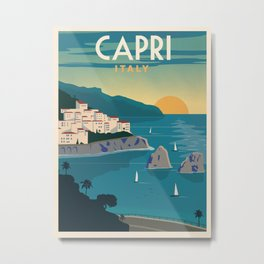 Vintage travel poster-Italy-Carpi. Metal Print