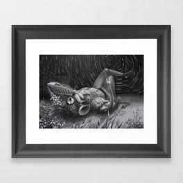 Meteor shower Framed Art Print