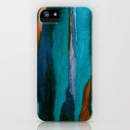 """""""a dark february redux1"""" abstract watercolor painting iPhone Case"""