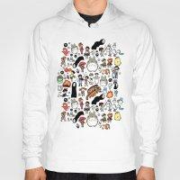 miyazaki Hoodies featuring Kawaii Ghibli Doodle by KiraKiraDoodles