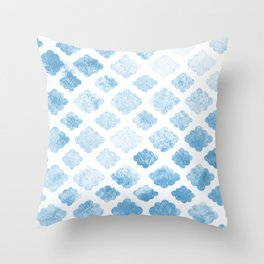 Blue clouds Throw Pillow